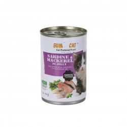 Sumo Cat Canned Food Sardine & Mackerel in Jelly 400g