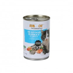 Sumo Cat Canned Food Seafood Basket in Jelly 400g