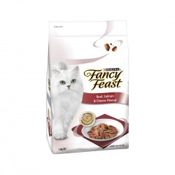 Fancy Feast Cat Dry Food Beef, Salmon & Cheese Flavour 1.4kg