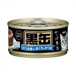Aixia Kuro Cat Canned Food Tuna & Skipjack Tuna with Dried Skipjack 80g