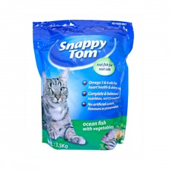 Snappy Tom Cat Dry Food Ocean Fish with Vegetables 3.5kg