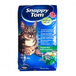 Snappy Tom Cat Dry Food Ocean Fish with Vegetables 1.5kg