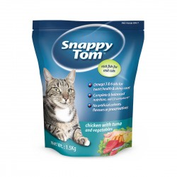 Snappy Tom Cat Dry Food Tuna with Chicken & Vegetables 1.5kg