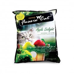 *Cats of Marine Terrace* Fussie Cat Litter Apple Scoopable 10L