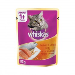 Whiskas Cat Wet Food Mackerel & Salmon 85g