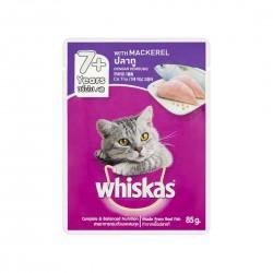 Whiskas Cat Wet Food Mackerel for Adult 7+ 85g