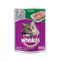 Whiskas Cat Wet Food Tuna for Adult 7+ 85g