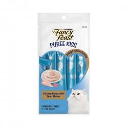 Purina Fancy Feast Puree Kiss Cat Treat Chicken Puree with Tuna Flakes 10g (4pcs)
