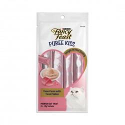 Purina Fancy Feast Puree Kiss Cat Treat Tuna Puree with Tuna Flakes 10g (4pcs)