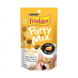 Purina Friskies Cat Treat Party Mix Cheezy Craze Crunch 60g