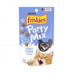 Purina Friskies Cat Treat Party Mix Gravy-licious Crunch Turkey & Gravy 60g