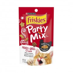 Purina Friskies Cat Treat Party Mix Mixed Grill Crunch 60g