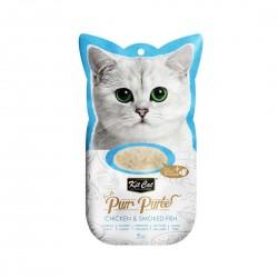 Kit Cat Purr Puree Cat Treat Chicken & Smoked Fish 15g