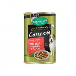 *Mdm Wong's Shelter* Nature's Gift Dog Canned Food Beef, Vegetables & Barley 700g (12 cans)