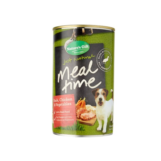 *Lily Low Shelter* Nature's Gift Dog Canned Food Chicken, Duck & Vegetables 700g 1 ctn