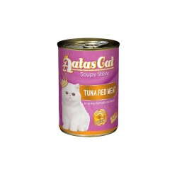 Aatas Cat Canned Food Soupy Stew Red Meat Tuna 400g