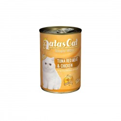 Aatas Cat Canned Food Soupy Stew Red Meat Tuna & Chicken 400g
