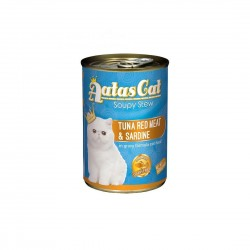 Aatas Cat Canned Food Soupy Stew Red Meat Tuna & Sardine 400g