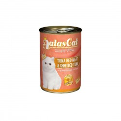 Aatas Cat Canned Food Soupy Stew Red Meat Tuna & Shredded Tuna 400g