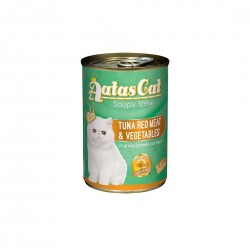 Aatas Cat Canned Food Soupy Stew Red Meat Tuna & Vegetables 400g