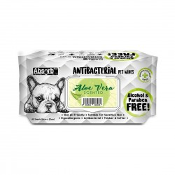 Absorb Plus Antibacterial Pet Wipes Aloe Vera