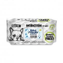 Absorb Plus Antibacterial Pet Wipes Baby Powder
