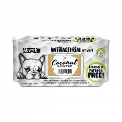 Absorb Plus Antibacterial Pet Wipes Coconut