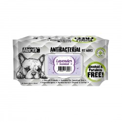 Absorb Plus Antibacterial Pet Wipes Lavender