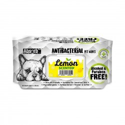 Absorb Plus Antibacterial Pet Wipes Lemon