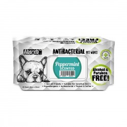 Absorb Plus Antibacterial Pet Wipes Peppermint
