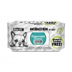 Absorb Plus Antibacterial Pet Wipes Peppermint