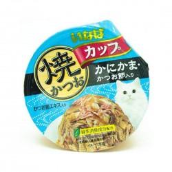 CIAO Cat Food Tsurun Cup Tuna Crab Stick & Bonito in Gravy 80g