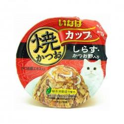 CIAO Cat Food Tsurun Cup Tuna Whitebait and Bonito in Gravy 80g