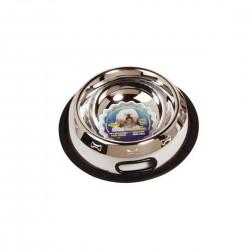 Dog it Pet Bowl Silver & Black 500ml