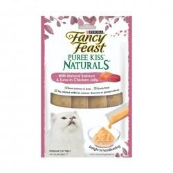 Fancy Feast Puree Kiss Naturals Salmon & Tuna in Chicken Jelly 10g (4pcs)