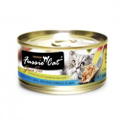 *Haus of Furries* Fussie Cat Canned Food Premium Tuna with Small Anchovies in Aspic 80g (24 cans)