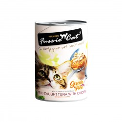 *Purrs & Meows* Fussie Cat Canned Food Tuna with Chicken 400g (24 cans)