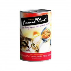Fussie Cat Canned Food Wild Caught Tuna with Crab Surimi 400g