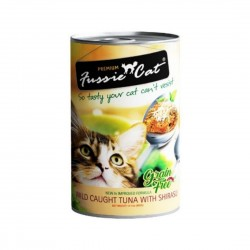 *Purrs & Meows* Fussie Cat Canned Food Wild Caught Tuna with Shirasu 400g (24 cans)