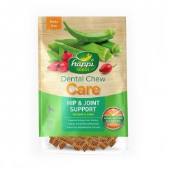 Happi Doggy Dental Chew Care Hip & Joint Support Petite 150g