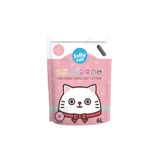 Jolly Cat Litter Crushed Tofu Sakura 6L