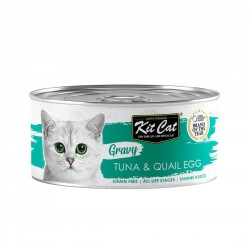 Kit Cat Canned Food Gravy Tuna & Quail Egg 70g