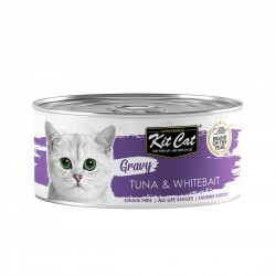 Kit Cat Canned Food Gravy Tuna & Whitebait 70g