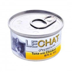 LeChat Cat Canned Food Premium Tuna with Chicken 80g