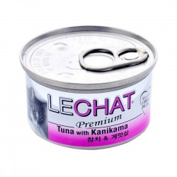LeChat Cat Canned Food Premium Tuna with Kanikama 80g
