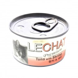LeChat Cat Canned Food Premium Tuna with Shrimp 80g