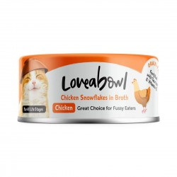 Loveabowl Cat Canned Food Chicken Snowflakes in Broth 70g