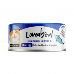 Loveabowl Cat Canned Food Tuna Ribbons with Quail Egg in Broth 70g