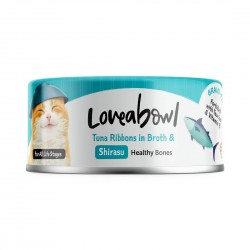 Loveabowl Cat Canned Food Tuna Ribbons with Shirasu in Broth 70g