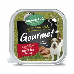 Nature's Gift Dog Tray Food Beef Fillet 100g